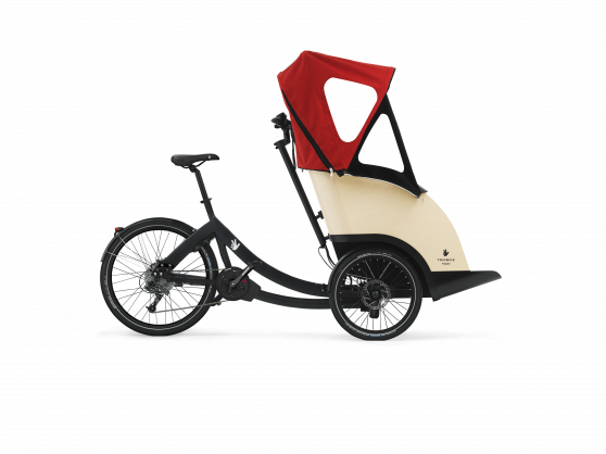 gallery/triobike taxi mid drive black deore9 unfolded hood side